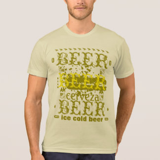 Beer/Cerveza Gold Yellow T-shirts