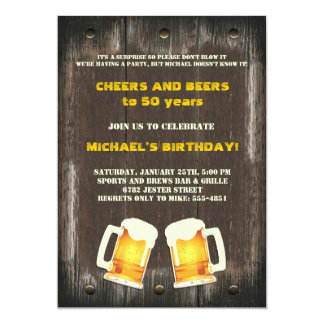 Beer Cheers Invitation