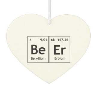 BeEr Chemistry Periodic Table Element Symbols Word Car Air Freshener
