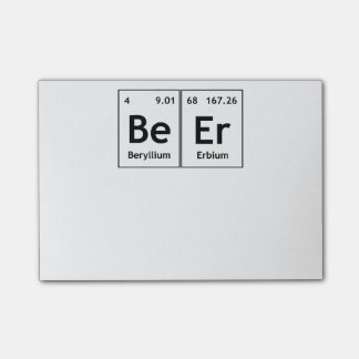 BeEr Chemistry Periodic Table Element Symbols Word Post-it Notes