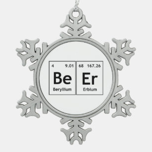 Words made from periodic table gifts gift ideas zazzle uk beer chemistry periodic table element symbols word snowflake pewter christmas ornament urtaz Gallery