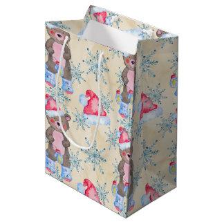 Beer Christmas pattern Medium Gift Bag