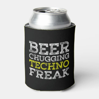 Beer Chugging Techno Freak - Can Cooler