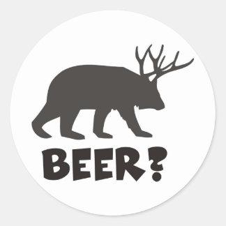 beer ? classic round sticker