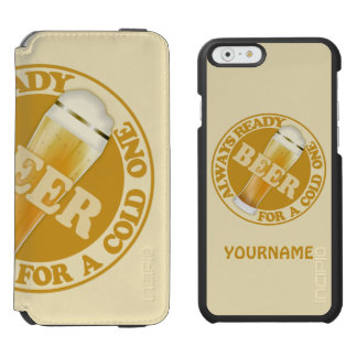 BEER custom case wallets Incipio Watson™ iPhone 6 Wallet Case