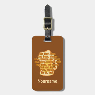 Beer custom luggage tag