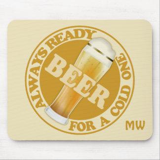 BEER custom monogram mousepad