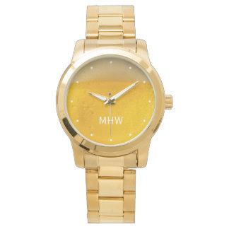 BEER custom monogram watches