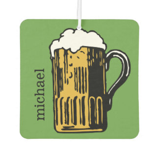 Beer custom name air freshner car air freshener