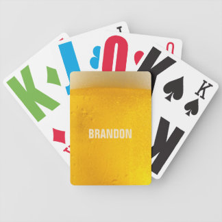 BEER custom name playing cards