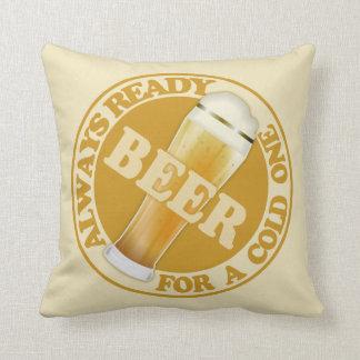 BEER custom throw pillows