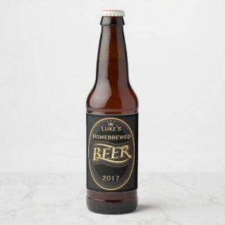 Beer Design Home Brew Label