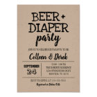 Beer & Diaper Party Invitation