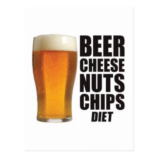 Beer Diet Postcard