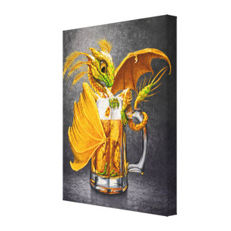 Beer Dragon 8x10 Canvas Print