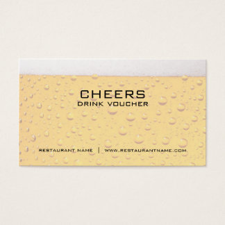 Beer Drink Voucher and Coupon Cards
