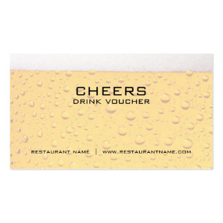 Beer Drink Voucher and Coupon Cards Pack Of Standard Business Cards
