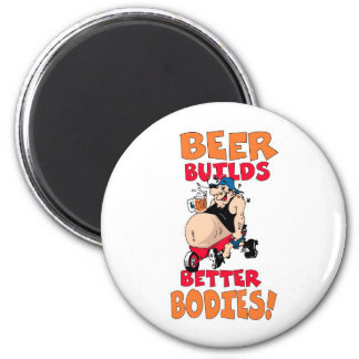 Beer drinkers make better lovers 6 cm round magnet