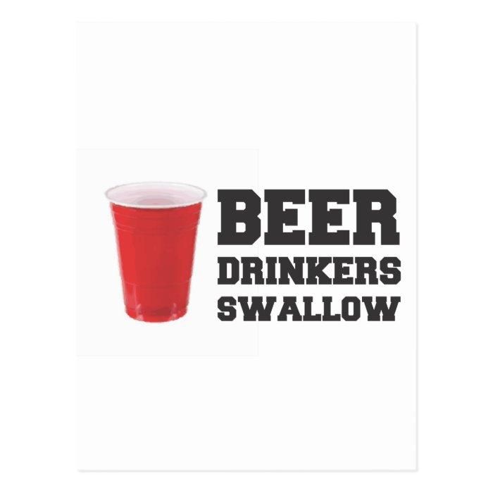 Beer Drinkers Swallow Postcard