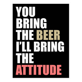Beer Drinkin' Invite Post Card