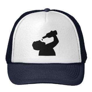 Beer drinking trucker hat