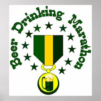 Beer Drinking Marathon Poster