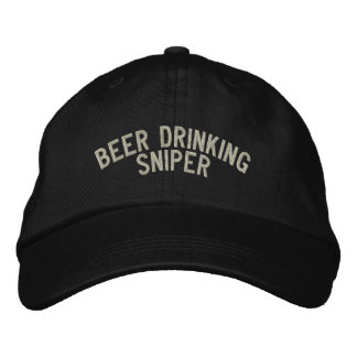 Beer Drinking Sniper Embroidered Baseball Cap