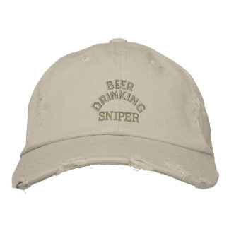 Beer Drinking Sniper Hat Embroidered Cap