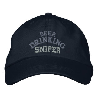 Beer Drinking Sniper Hat Embroidered Hats
