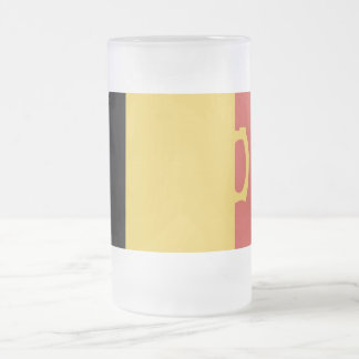 Beer Flag Frosted Glass Mug