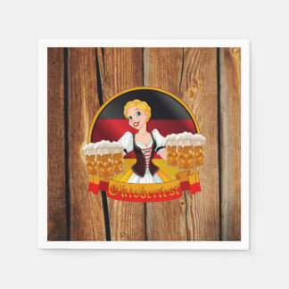 Beer For All Oktoberfest Party Paper Napkins