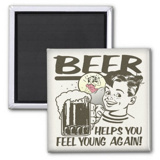 Beer Fountain of Youth Refrigerator Magnets