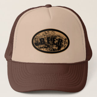 Beer -Fresh Mountain Spring Water Sepia Tone Trucker Hat
