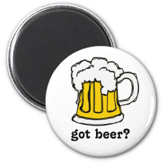 Beer! Frothy Bubbly Mug of Brew 6 Cm Round Magnet