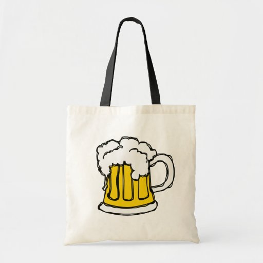 Beer! Frothy Bubbly Mug of Brew Canvas Bags