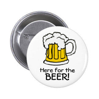 Beer! Frothy Bubbly Mug of Brew Pinback Button