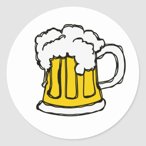 Beer! Frothy Bubbly Mug of Brew Stickers