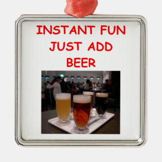 beer fun christmas ornament