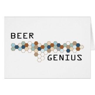 Beer Genius Greeting Card