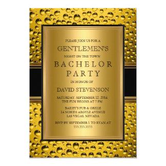 Beer Gentlemen's Bachelor Party Men's Night Out 13 Cm X 18 Cm Invitation Card