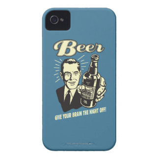 Beer: Give Your Brain the Night Off Case-Mate iPhone 4 Case