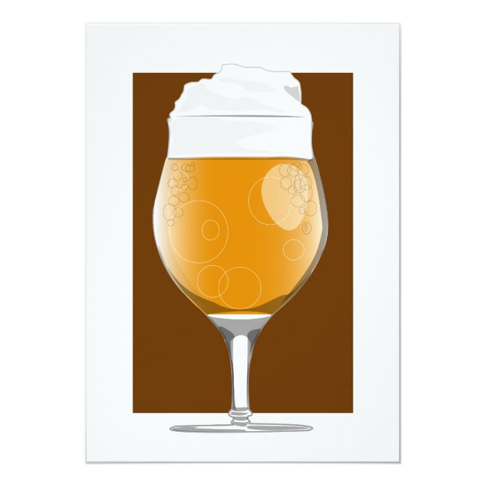 Beer glass 2 invitation