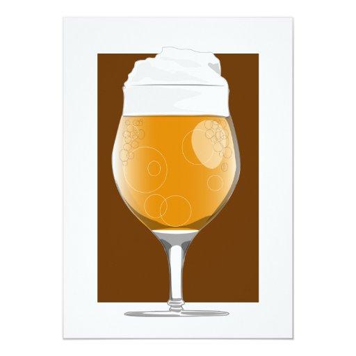 "Beer glass 2 invitation 5"" x 7"" invitation card"