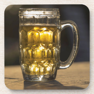 Beer glass beverage close up, India Coaster