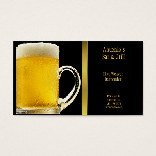 Beer Glass Business Card