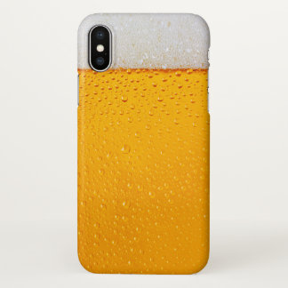 Beer Glass Close-up Funny iPhone X Case