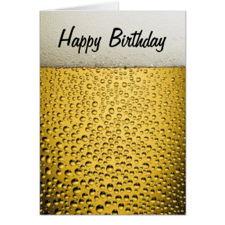 Beer Glass Happy Birthday Card
