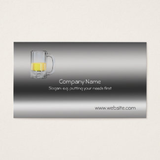 Beer Glass on metallic-look template