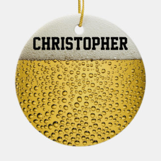 Beer Glass Personalize Christmas Ornament