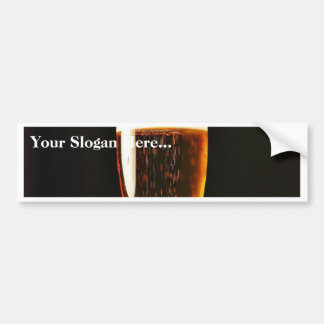 Beer Glasses Bubbles Bumper Sticker